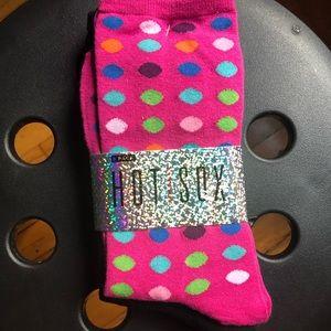 Pink Polka Dot Socks Multi pack